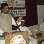 Abdullah Javed Addressing Seerath Prog at Udupi. Abdus salaam & Akber Ali on Stage