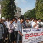 Youth Wing Udupi Protest Petrol price hike 1