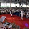 Moulana Syed Jalaluddin Umari President, Jamaat-e-Islami Hind addressing a Massive gathering of the workers  and member of  Jamaat-e-Islami Hind(All India IJTEMA-E-Arkan) at the inaugural day of four days conference at Jamia Darul Huda Shaheen Nagar near Hyderabad on Friday.Pic:Style photo service.
